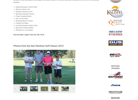 Northwest Golfers for Warriors