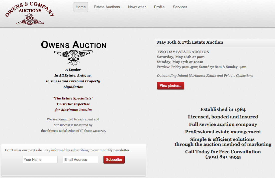Owens Auction Gallery
